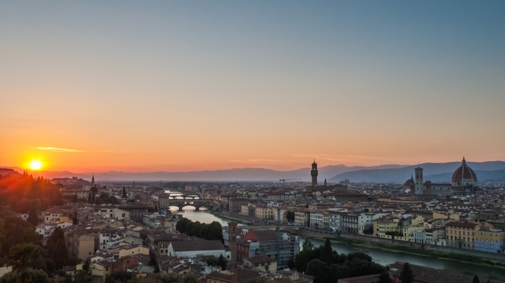 Sunset in Florence ⓒ James Trickey
