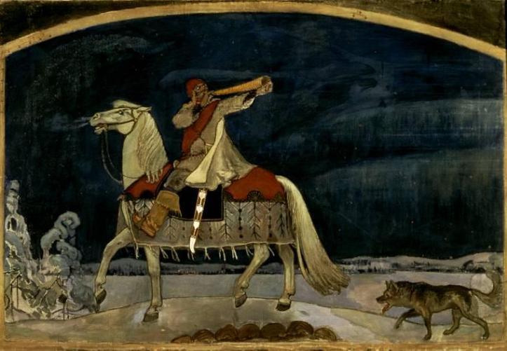 Kullervo goes to war by Akseli Gallen-Kallela