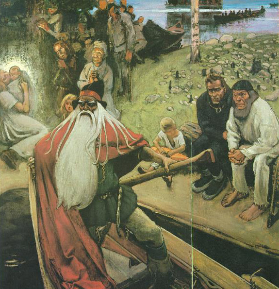 The Departure of Väinämöinen by Akseli Gallen-Kallela