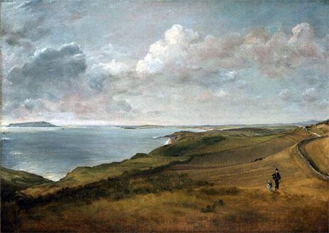 John Constable - Weymouth Bay from the Downs above Osmington Mills (1816)