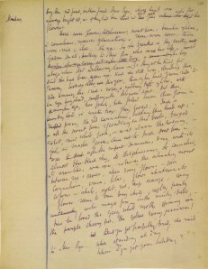 Virginia Woolf's notebook for 'Mrs Dalloway'