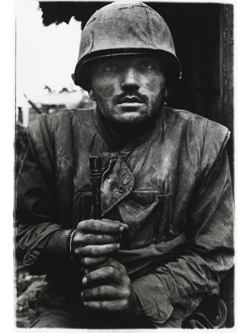 Dom McCullin, 'Shell Shocked US Marine, The Battle of Hue', 1968