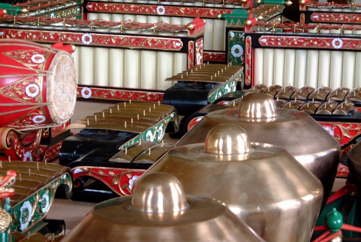 Gamelan; the bronze orchestra of Java