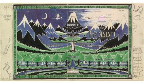 'The Hobbit' dust jacket © Bodleian Libraries