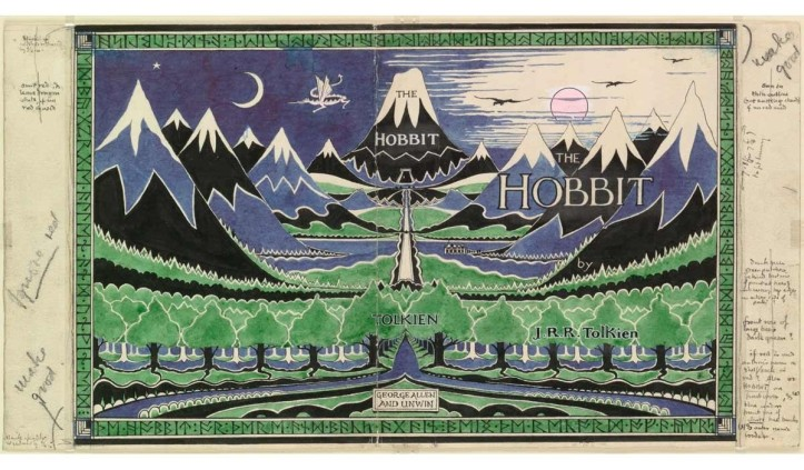 'The Hobbit' dust jacket © Bodleian Libraries