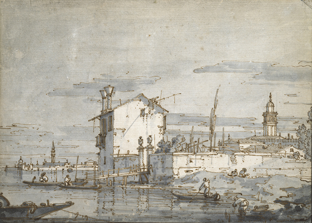 Canaletto, An Island in the Lagoon, © Ashmolean Museum