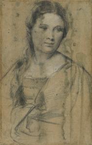 Titian, Portrait of a young woman, © Gabinetto Disegni e Stampe degli Uffizi, Florence