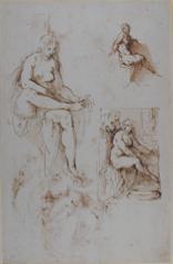 Palma Giovane, 'Studies for Bathsheba at her bath' © Ashmolean Museum, Oxford