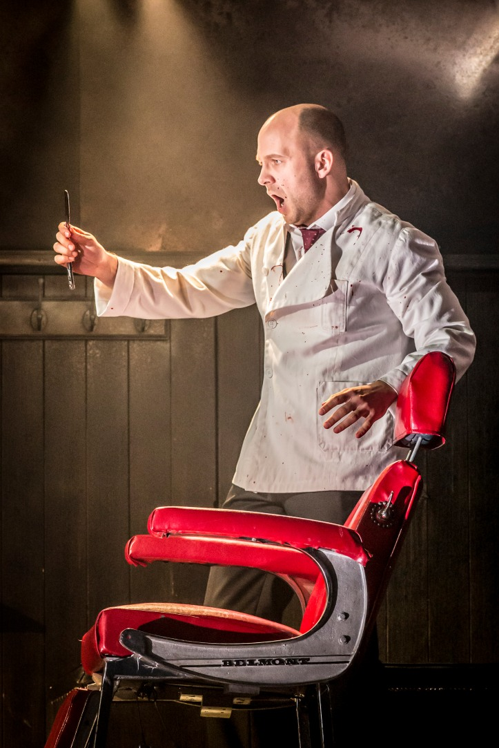 David Arnsperger as Sweeney Todd in WNO 'Sweeney Todd' © Johan Persson
