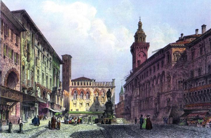 bologna_piazza_maggiore_c1855